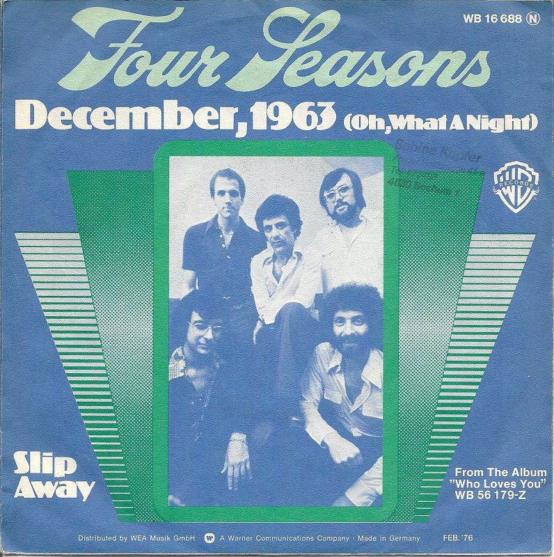 The Four Seasons – December, 1963 (Oh, What a Night)
