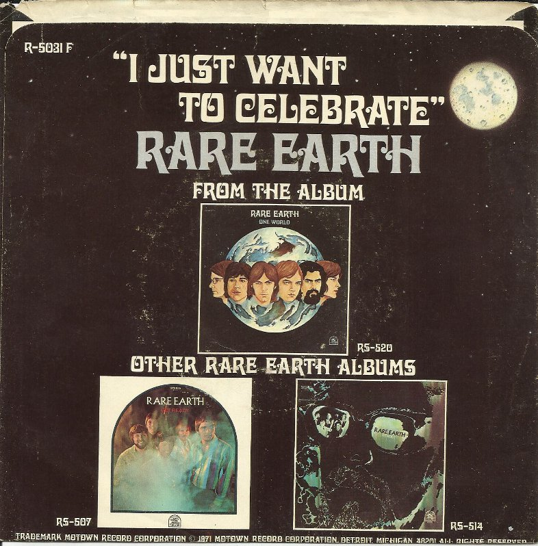 Rare Earth – I Just Want To Celebrate