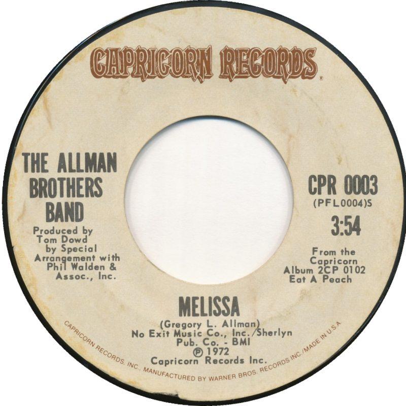 Allman Brothers –Melissa