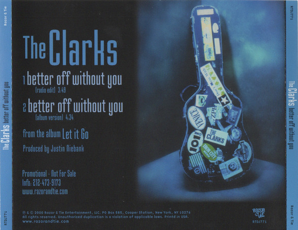 The Clarks – Better Off Without You    ….Power Pop Friday